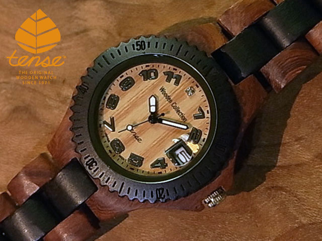 テンス【tense】プチアーバンモデル No.269 サンダルウッド使用1971年創業のカナダ木工専門技を結集し、匠が創り上げたTENSE木製腕時計(ウッドウォッチ)。テンス社日本総輸入元公式販売サイト。【日本総輸入元のメンテナンス保証付】