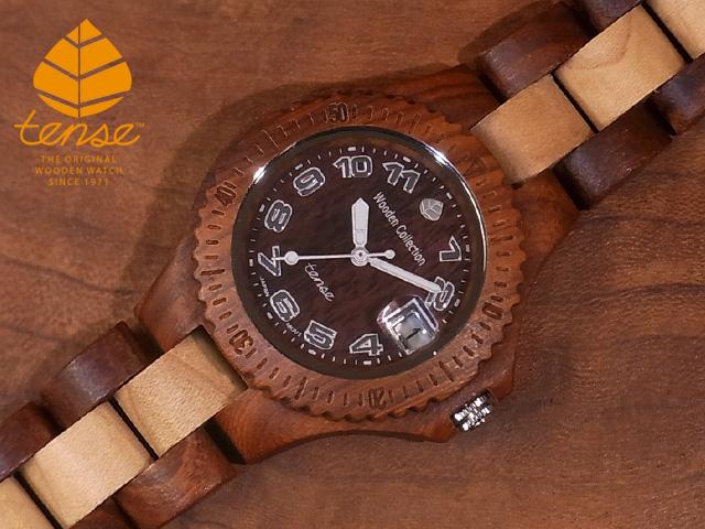 テンス【tense】プチアーバンモデル No.293 サンダルウッド&メイプルウッド使用1971年創業のカナダ木工専門技を結集し、匠が創り上げたTENSE木製腕時計(ウッドウォッチ)。テンス社日本総輸入元公式販売サイト。【日本総輸入元のメンテナンス保証付】