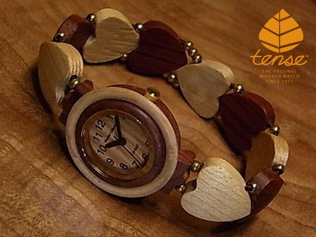テンス【tense】ハートブレスレットモデル No.264 メープルウッド & Sウッド使用1971年創業のカナダ木工専門技を結集し、匠が創り上げたTENSE木製腕時計(ウッドウォッチ)。テンス社日本総輸入元公式販売サイト。【日本総輸入元のメンテナンス保証付】