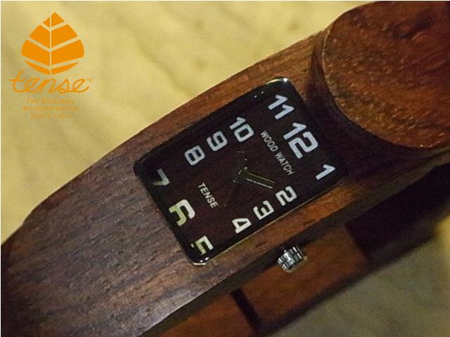 テンス【tense】アルマジロブレスレットモデル  No.449 ローズウッド使用1971年創業のカナダ木工専門技を結集し、匠が創り上げたTENSE木製腕時計(ウッドウォッチ)。テンス社日本総輸入元公式販売サイト。【日本総輸入元のメンテナンス保証付】