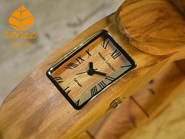 テンス【tense】アルマジロブレスレットモデル  No.452 オリーブウッド使用1971年創業のカナダ木工専門技を結集し、匠が創り上げたTENSE木製腕時計(ウッドウォッチ)。テンス社日本総輸入元公式販売サイト。【日本総輸入元のメンテナンス保証付】