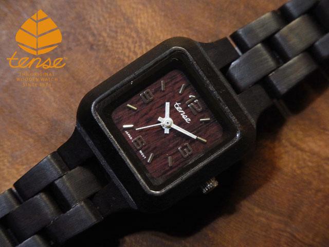 テンス【tense】プチスクエアモデル No.363 ダークサンダルウッド使用1971年創業のカナダ木工専門技を結集し、匠が創り上げたTENSE木製腕時計(ウッドウォッチ)。テンス社日本総輸入元公式販売サイト。【日本総輸入元のメンテナンス保証付】