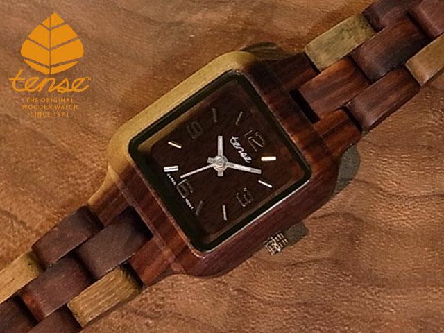 テンス【tense】プチスクエアモデル No.106 インレイドサンダルウッド使用1971年創業のカナダ木工専門技を結集し、匠が創り上げたTENSE木製腕時計(ウッドウォッチ)。テンス社日本総輸入元公式販売サイト。【日本総輸入元のメンテナンス保証付】