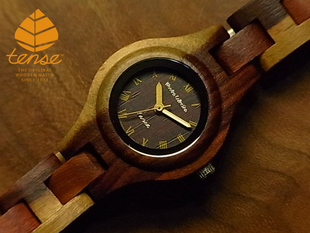 テンス【tense】シグネチャーL7509モデル No.291 インレイドサンダルウッド使用1971年創業のカナダ木工専門技を結集し、匠が創り上げたTENSE木製腕時計(ウッドウォッチ)。テンス社日本総輸入元公式販売サイト。【日本総輸入元のメンテナンス保証付】