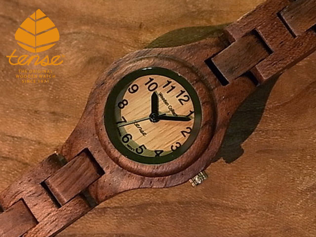 2020A W新作送料無料 販売 隠れた人気を誇る TENSE木製腕時計 木婚式の記念や大切な方へのプレゼントに テンス tense シグネチャーL7509モデル 匠が創り上げたTENSE木製腕時計 テンス社日本総輸入元公式販売サイト ウッドウォッチ No.289 アフリカンローズウッド使用1971年創業のカナダ木工専門技を結集し 日本総輸入元のメンテナンス保証付