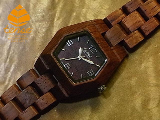 テンス【tense】プチヘキサゴンモデル No.4 アフリカンローズウッド使用1971年創業のカナダ木工専門技を結集し、匠が創り上げたTENSE木製腕時計(ウッドウォッチ)。テンス社日本総輸入元公式販売サイト。【日本総輸入元のメンテナンス保証付】