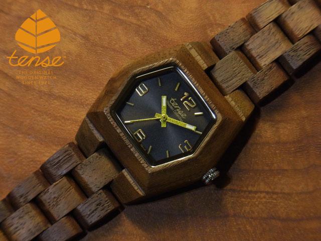 テンス【tense】プチヘキサゴンモデル No.7 ウォルナット使用1971年創業のカナダ木工専門技を結集し、匠が創り上げたTENSE木製腕時計(ウッドウォッチ)。テンス社日本総輸入元公式販売サイト。【日本総輸入元のメンテナンス保証付】
