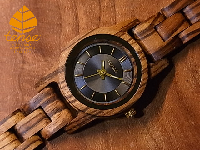 テンス【tense】グロリアスモデル No.520 ゼブラウッド使用1971年創業のカナダ木工専門技を結集し、匠が創り上げたTENSE木製腕時計(ウッドウォッチ)。テンス社日本総輸入元公式販売サイト。【日本総輸入元のメンテナンス保証付】