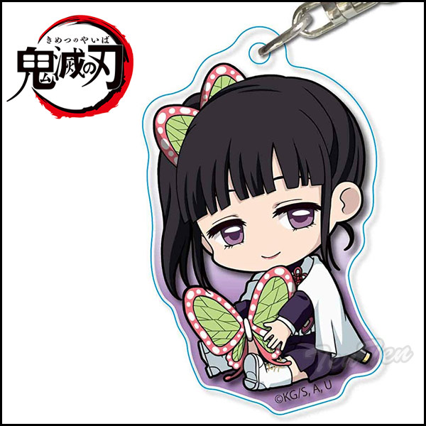 Acrylic key ring chestnut unripe fruit カナヲ decides a blade of the ogre  extinction tightly; blade goods (つゆりかなを) of the horn blade ogre extinction