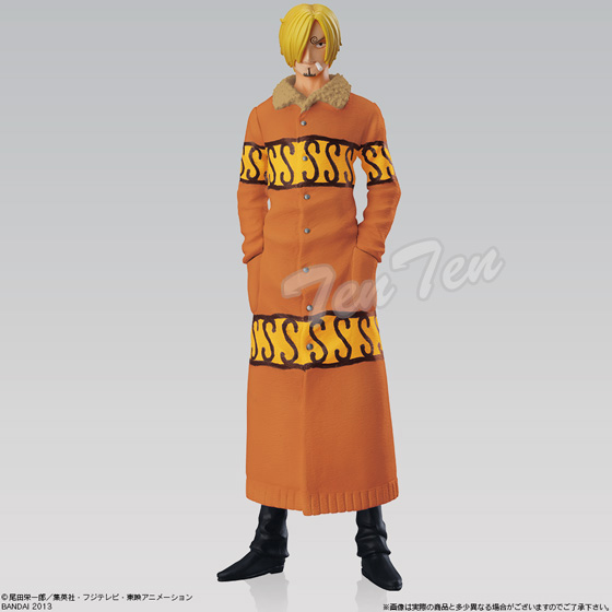One piece PVC figure Super styling the new assassins all 4 species set Luffy NAMI Sanji baby 5