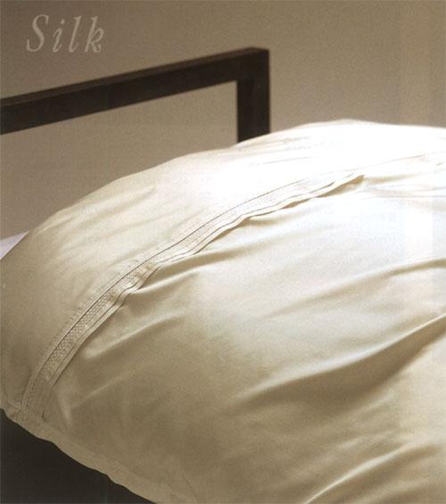 【送料無料】 京都西川 シルクカバー メイトカバー 日本製 ヨーロピアン 掛け布団カバー ダブル 190×210cm