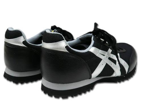 安全鞋安全鞋专用集成电路 Asic 赢得工作 FIS32L 男性和女性的吊带型黑色 x 银 22.5 ~ 30.0 厘米