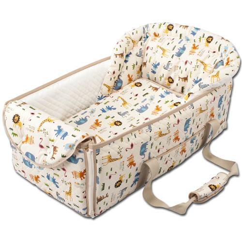 【送料無料】 クーファン お昼寝布団にもなるクーファン ベッド お昼寝 ベビー布団 アニマル 出産祝 育児 フジキ 日本製 ホワイト