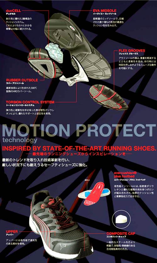 美洲狮安全鞋安全运动鞋彪马安全兼容运动鞋融合运动男子树脂芯黑色 / 红色 / 黄色 24.5 ~ 28.0 厘米
