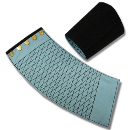 手甲 きねや 5枚コハゼ 「きねや無敵」 青縞手甲(藍染)腕貫 幅約10.7cm 日焼け 防寒 汚れ防止に 特々大 10双セット