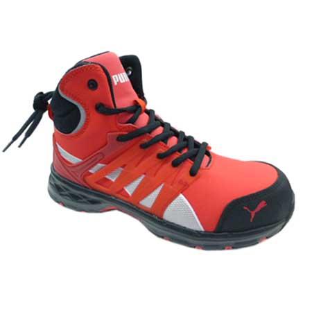 プーマ安全靴 エレメントプロテクト 安全スニーカー 幅広 安全靴 送料無料 PUMA 海外 購買 SAFETY プーマ Velocity2.0 レッド ハイカット No.63.343.0 樹脂先芯 セーフティシューズ 25.0~28.0cm ヴェロシティ2.0