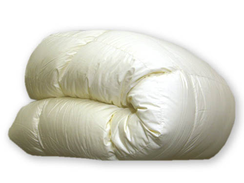 羽毛布団 高品質 ハンガリー産◆ダウン93% 【日本製】 クイーンサイズ 210×210cm ベージュ