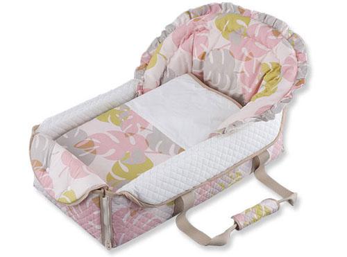 【送料無料】 クーファン ■ハワイアン■ バッグdeクーファン ピンク OC-1101 クーハン ベッド お昼寝 ベビー布団 出産祝 育児 フジキ 日本製