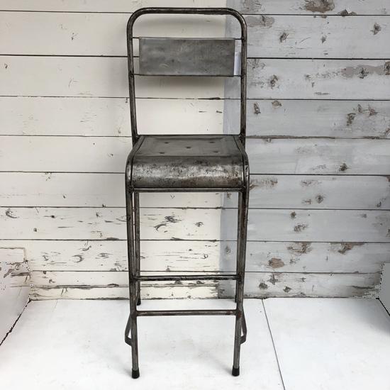 アイアン パイプ カウンターチェア / ハイチェア SH700mm /ヴィンテージ ラスティック インダストリアル 一点もの 椅子(IFN-78)