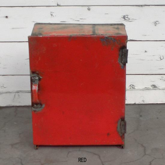 アイアン ドア付き シェルフ / ドラム缶リユース材 / カラー6色(KMN-086)