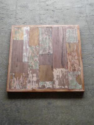 テーブル天板 ボート古材 パッチワーク / 正方-800 / DIY 自作テーブル 木材 ヴィンテージ 一点もの(IFN-51)
