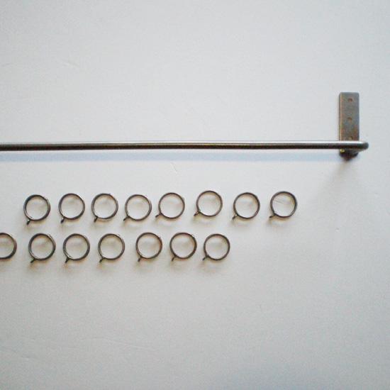 アイアン カーテンポール ハンガー / ワンピース-L 1300mm リフォーム DIY(PRT-208-L)