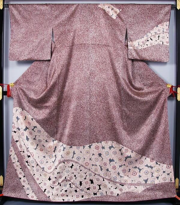 【レンタル訪問着】特選 仕立上がり新品 ポピー模様の訪問着  送料無料 【リサイクルきもの・リサイクル着物・通販・販売・アンティーク着物・着物買い取りの専門店 kimono 中古品】(Y)