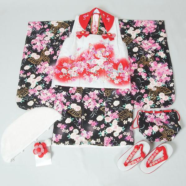 【新品】三歳女児用七五三一式セット(4) リサイクルきもの・リサイクル着物・通販・販売・アンティーク着物・着物買い取りの専門店・りさいくるきものてんよう kimono 中古品】(Y)A