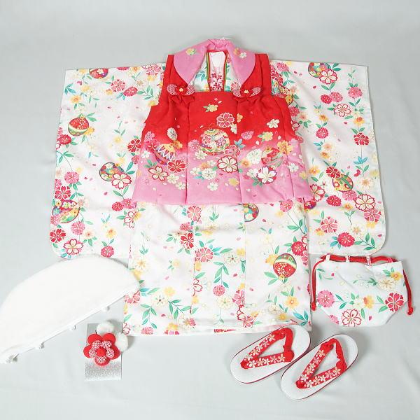 【新品】三歳女児用七五三一式セット(5) リサイクルきもの・リサイクル着物・通販・販売・アンティーク着物・着物買い取りの専門店・りさいくるきものてんよう kimono 中古品】(YA)