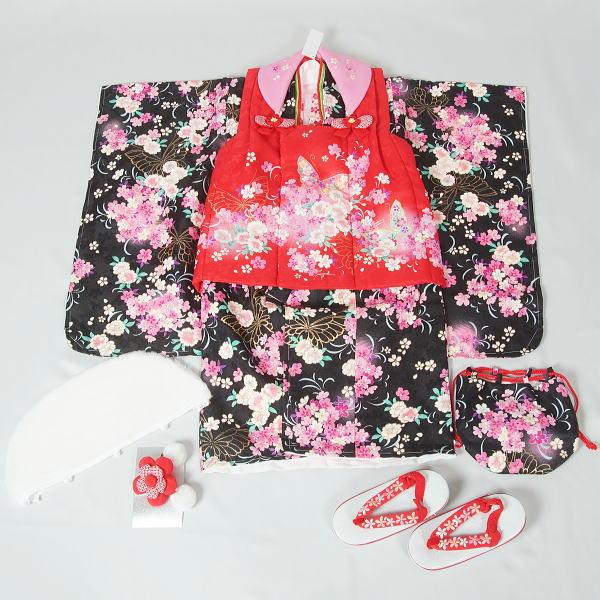 【新品】三歳女児用七五三一式セット(6) 【リサイクルきもの・リサイクル着物・通販・販売・アンティーク着物・着物買い取りの専門店・りさいくるきものてんよう】「A」 kimono 中古品(Y)