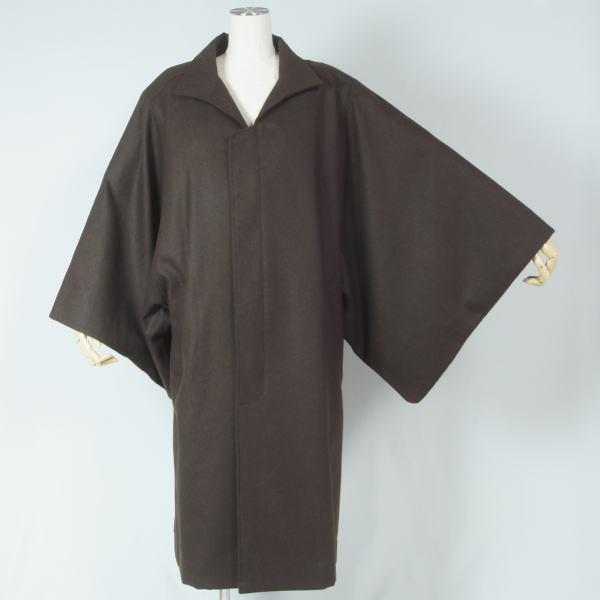 【新品】男物 角袖コート 安心の日本製 Mサイズ  送料無料【リサイクルきもの・リサイクル着物・通販・販売・アンティーク着物・着物買い取りの専門店・りさいくるきものてんよう kimono 中古品】