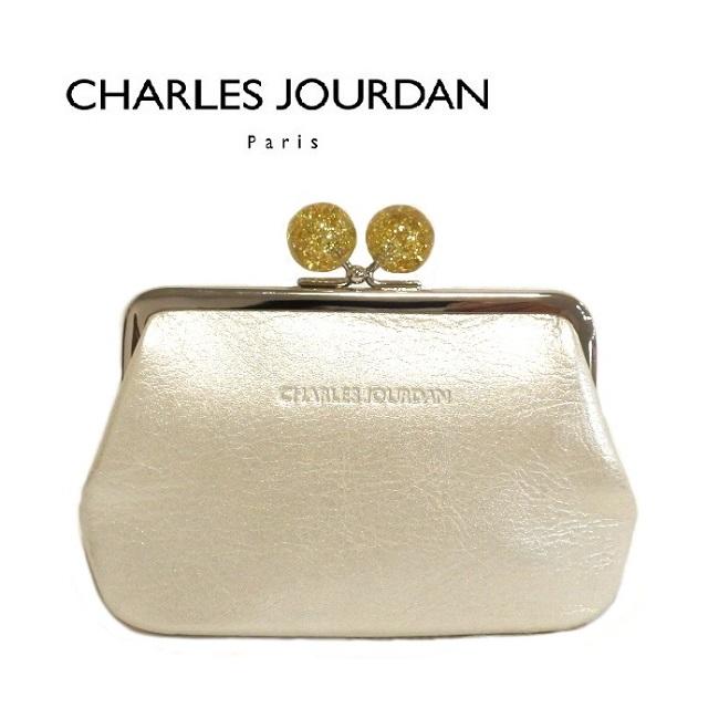 シャルル ジョルダン CHARLES JOURDAN キャンディ口金財布 シャンパン レディース 日本製 牛革 レザー かわいい がま口 小銭入れ