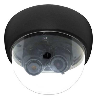 【 2眼レンズ マルチカム 】 防犯カメラ 監視カメラ AHD フルハイビジョン 3.6mm 8mm 2眼 FIXレンズ ドームカメラ AHD-2MD