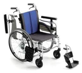 【送料無料】【ノーパンクタイヤ】【座面高さ調整可】車椅子/車イスアルミ自走式車いすミキ BAL-5