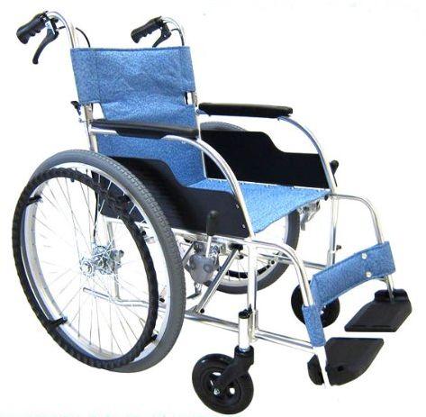 松永製作所 ECO-201B 自走式車いす アルミ製スタンダードタイプ 条件付き送料無料