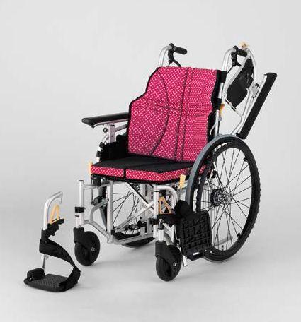 【条件付き送料無料】 日進医療器 自走式車いす NA-U7 ウルトラシリーズ U7(モジュラー)タイプ