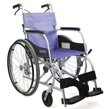 カワムラサイクル ふわりす KF22-40SB(中床) エアタイヤ軽量仕様 アルミ自走式標準型 車椅子