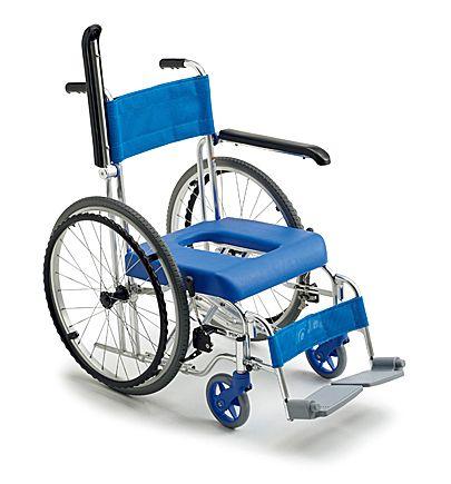 【送料無料】車椅子/車イスミキ自走型お風呂車イス MH-43