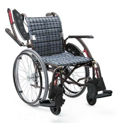 カワムラサイクル ウェイビットプラスシリーズ WAVIT+WAP22-40(42)A 中床 エアタイヤ(軽量)仕様 自走式車いす