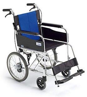 【送料無料】【ノーパンクタイヤ】車椅子/車イスアルミ介助式車いすミキ BAL-2