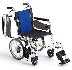 【送料無料】【ノーパンクタイヤ】車椅子/車イスアルミ介助式車いすミキ BAL-4