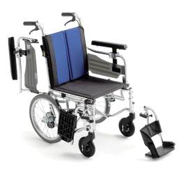 【送料無料】【ノーパンクタイヤ】【座面高さ調整可】車椅子/車イスアルミ介助式車いすミキ BAL-6