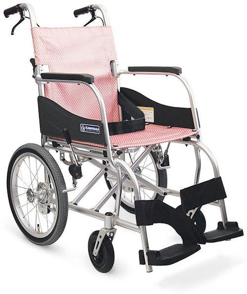 カワムラサイクル ふわりす KF16-40SB(中床) エアタイヤ軽量仕様 アルミ介助式標準型 車椅子 法人様送料無料