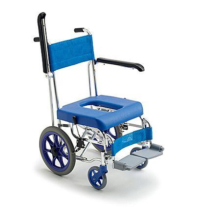 【送料無料】車椅子/車イスミキ介助型お風呂用車イス MHC-46