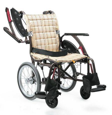 カワムラサイクル ウェイビットプラスシリーズ WAVIT+WAP16-40(42)A 中床 エアタイヤ(軽量)仕様 介助式車いす 法人様送料無料