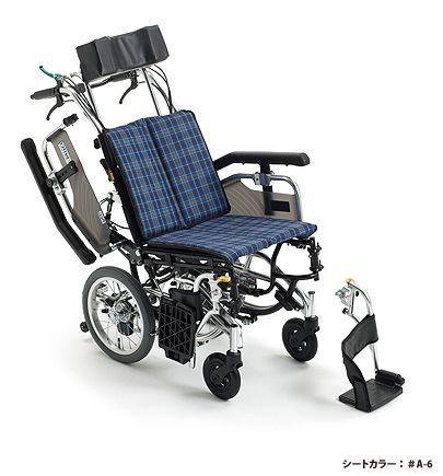 【送料無料】車椅子/車イス介助型車いすティルト&リクライニングミキ SKT-8
