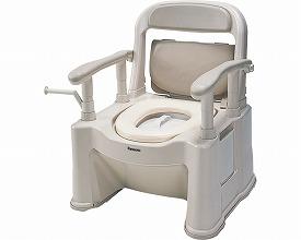 ポータブルトイレ座楽 背もたれ型SP ソフト便座・便フタタイプ VALSPTSPS 送料無料