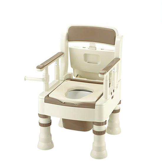 リッチェル ポータブルトイレ きらく ミニでか MS型 普通便座 45601/45603 送料無料