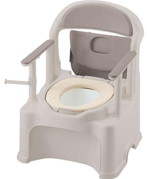 【送料無料】リッチェルポータブルトイレきらくPY2型やわらか便座