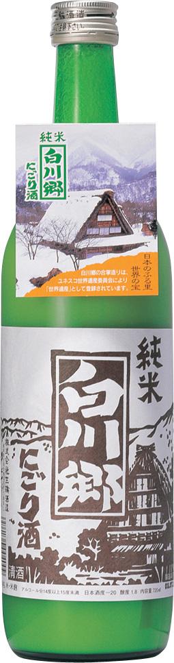 純米にごり酒 白川郷 【720ml×12本 ケース販売】【zzkvan】◆送料無料対象外地域有
